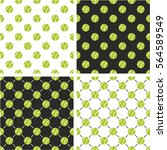 tennis ball seamless pattern... | Shutterstock .eps vector #564589549