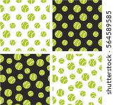 tennis ball big   small aligned ... | Shutterstock .eps vector #564589585