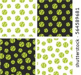 tennis ball big   small aligned ... | Shutterstock .eps vector #564589681