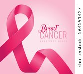 breast cancer awareness ribbon...   Shutterstock .eps vector #564591427