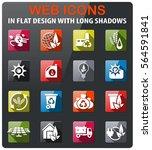 alternative energy icons set in ... | Shutterstock .eps vector #564591841