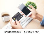 mobile payment  online shopping ... | Shutterstock . vector #564594754