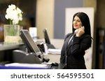 hotel receptionist. modern... | Shutterstock . vector #564595501