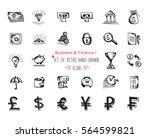 hand drawn sketch finance web... | Shutterstock .eps vector #564599821