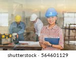 construction manager and... | Shutterstock . vector #564601129