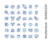 business and finance icons | Shutterstock .eps vector #564601234