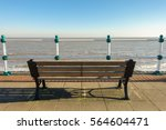 Empty Wooden Bench On A...