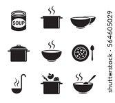 soup icons set. black on a...