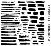 black vector brush strokes of... | Shutterstock .eps vector #564606535