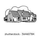 Home Sweet Home   Retro Clip Art