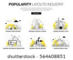 popularity modern layouts... | Shutterstock .eps vector #564608851