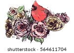 hand drawing sketch mixed with... | Shutterstock .eps vector #564611704