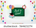 back to school icon vector... | Shutterstock .eps vector #564621274