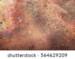aged copper plate texture  old...   Shutterstock . vector #564629209