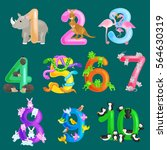 set of ordinal numbers for... | Shutterstock .eps vector #564630319
