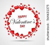 happy valentine's day   Shutterstock .eps vector #564631375