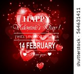 happy valentine's day | Shutterstock .eps vector #564631411
