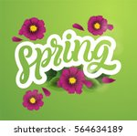 fresh spring background with... | Shutterstock .eps vector #564634189