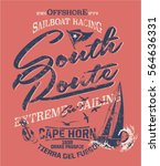 south route extreme sailing ... | Shutterstock .eps vector #564636331