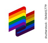 lgbt flag ribbon isolated.... | Shutterstock .eps vector #564641779