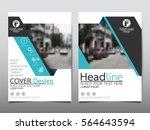 blue technology flyer cover... | Shutterstock .eps vector #564643594