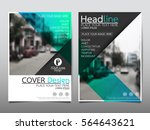 blue flyer cover business... | Shutterstock .eps vector #564643621