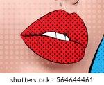 lips pop art | Shutterstock . vector #564644461