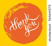 hand lettering thank you on... | Shutterstock .eps vector #564644575
