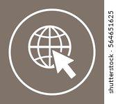 website  icon vector. flat...   Shutterstock .eps vector #564651625