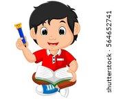 vector illustration of boy... | Shutterstock .eps vector #564652741