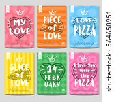 set colorful fast food posters. ... | Shutterstock .eps vector #564658951