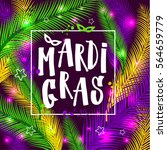mardi gras invitation card on... | Shutterstock .eps vector #564659779