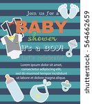 baby shower card. vector... | Shutterstock .eps vector #564662659