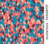 seamless pattern with triangles ... | Shutterstock .eps vector #564668959