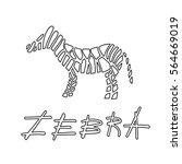 a simple zebra striped logo in... | Shutterstock .eps vector #564669019