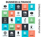 business and finance icon... | Shutterstock .eps vector #564669661