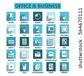 office and business icon banner ... | Shutterstock .eps vector #564670111