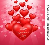 happy valentine's day | Shutterstock . vector #564674971