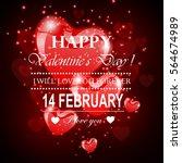 happy valentine's day | Shutterstock . vector #564674989