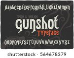 vintage rough font named ... | Shutterstock .eps vector #564678379
