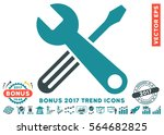 soft blue tools pictogram with...