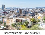 panoramic view of ancient city... | Shutterstock . vector #564683491