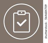 checklist  icon vector. flat...