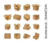 set of various cardboard boxes... | Shutterstock . vector #564687244
