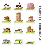 building icon    3d illustration | Shutterstock . vector #56468986