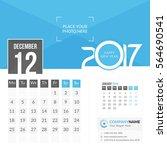 december 2017. calendar for... | Shutterstock .eps vector #564690541