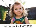 portrait of romantic blond girl ... | Shutterstock . vector #564692791