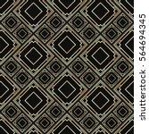seamless pattern in art deco...   Shutterstock .eps vector #564694345
