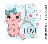 cute cat | Shutterstock .eps vector #564702265