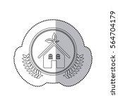 sticker monochrome half shadow... | Shutterstock .eps vector #564704179